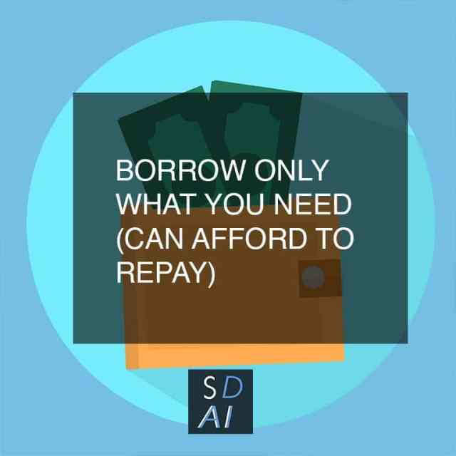 mobile loan tips borrow only what you need
