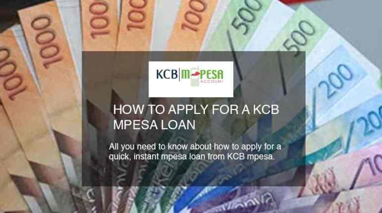how to apply for a KCB mpesa loan
