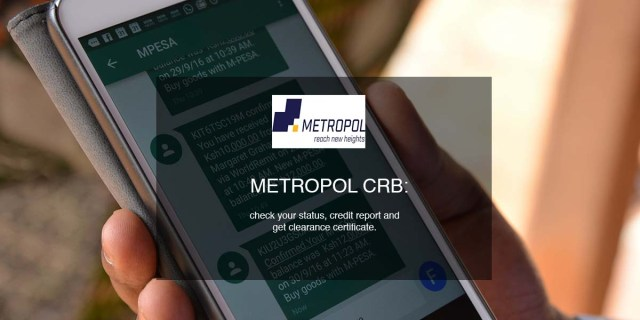 metropol crb credit report clearance certificate status check