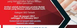 Contest SEO Bedak Asmak Mengangkat Martabat Penulisan Blogger