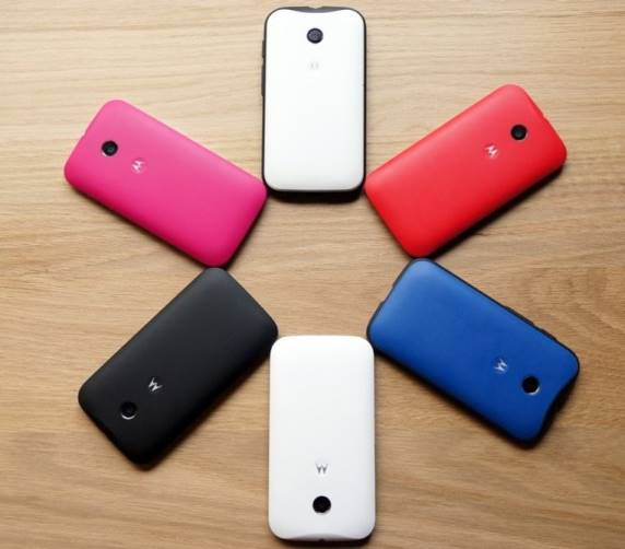 Moto E with Shells
