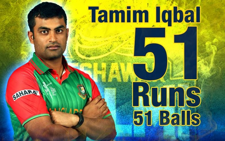 Tamim scores fifty in First PSL Match