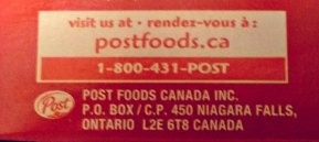Post Foods Canada contact to air your grievance