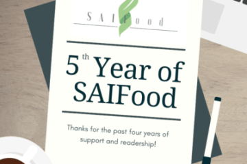SAIFood is proudly entering its 5th year of blogging