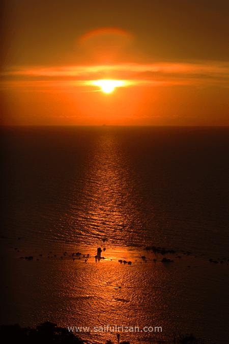 sunset 12 March 2013 Labuan Malaysia 4