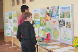 The exhibition of children's work