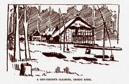 Figure 3: Gem digger's huts. From Smyth, 1895.
