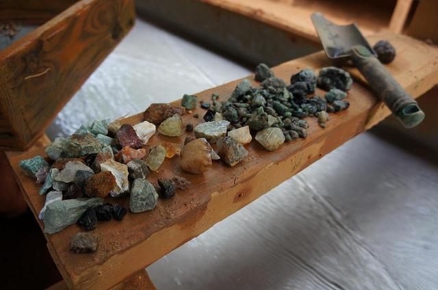 Mining for gemstones in Hiddenite