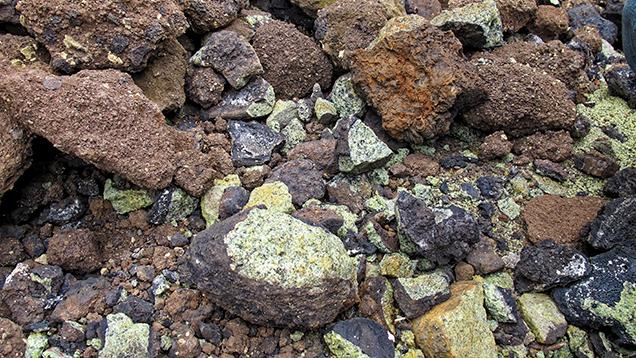 Peridot-bearing nodules at Bien Ho mine