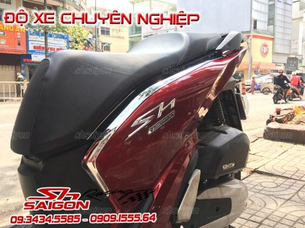 Xe Sh việt nam 2017 2018 màu đen lắp bodykit sh300i và ốp pô 300i mạnh mẽ
