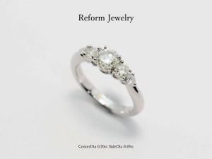SAIJOでジュエリーリフォームされたダイヤモンドの指輪|SAIJO|京都 宇治|オーダーメイドジュエリー