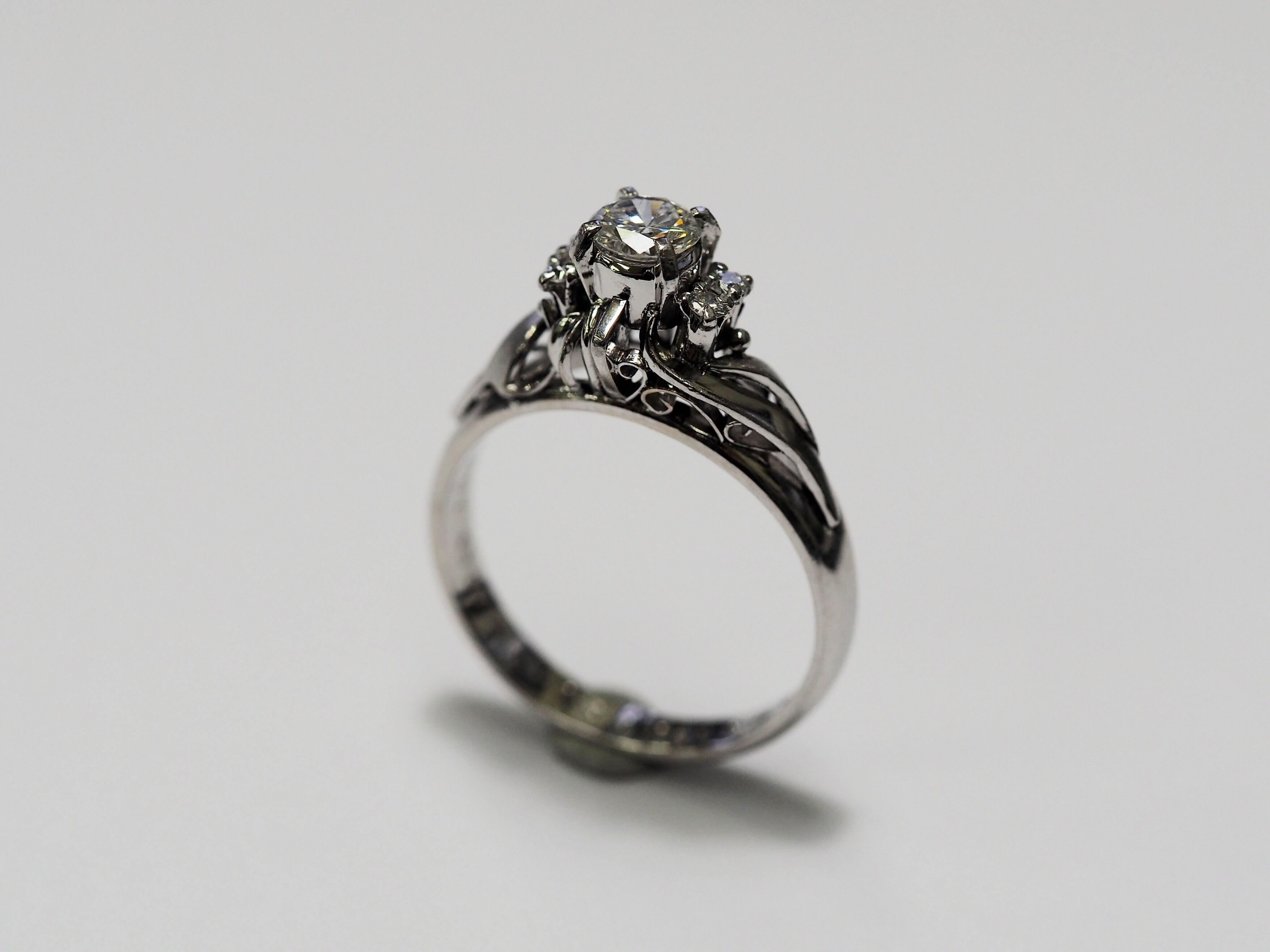 指輪 修理 リフォームジュエリー リメイク リモデル プラチナ 立て爪 ダイヤモンド SAIJO 森拓郎