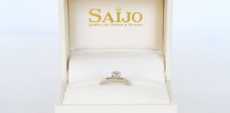 婚約指輪 エンゲージリング ダイヤモンド SAIJO 森拓郎