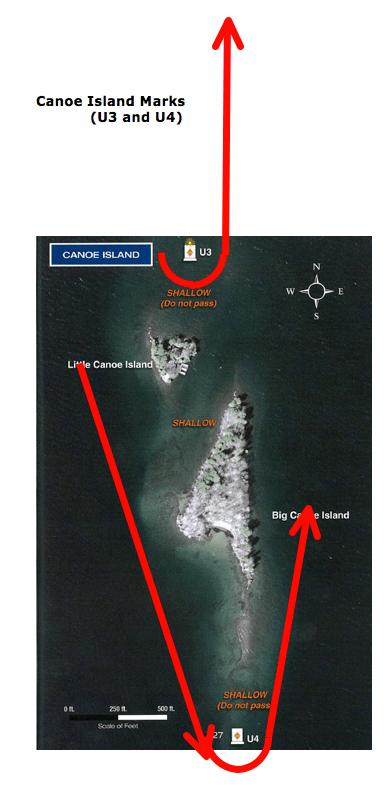 Canoe Island Marks
