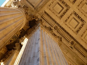 The pillars of St. Paul's cathedral