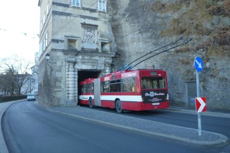 2015 bus through 1200AD tunnel...tight fit!