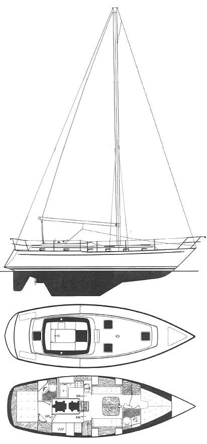 ENDEAVOUR 40 Sailboat