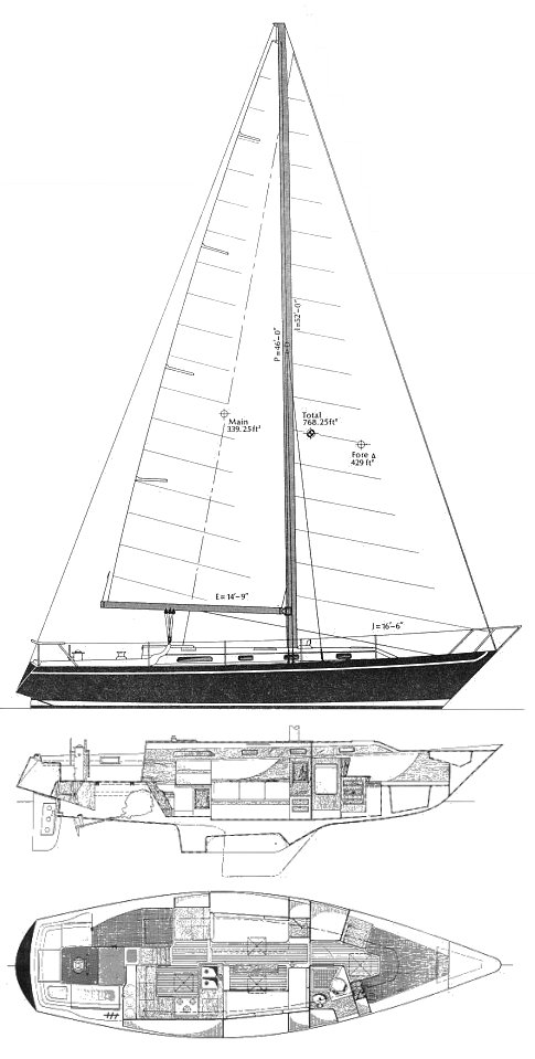 IRWIN 39 CITATION Sailboat