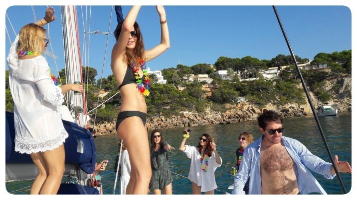 Catamaran hen party on Mallorca