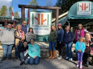 Southern Adirondack Independent Living Center employees at a fundraiser