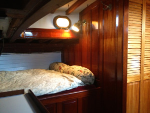 Heron interior layout - Aft cabin bunk