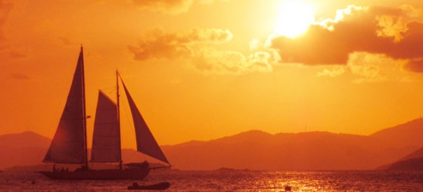 Sail Heron on a Maine Sunset Sail
