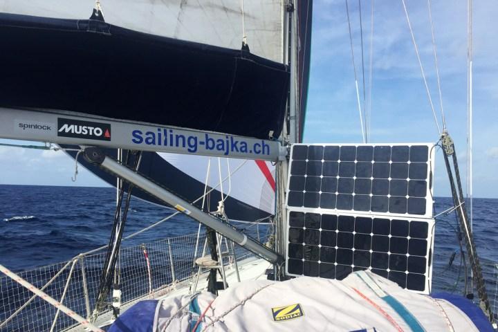 Flexible Solarpanel Atlantikueberquerung