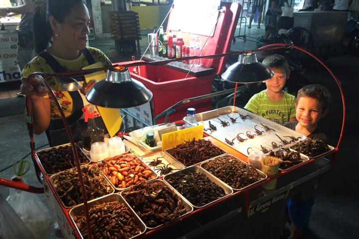 Bangkok gebratene Insekten
