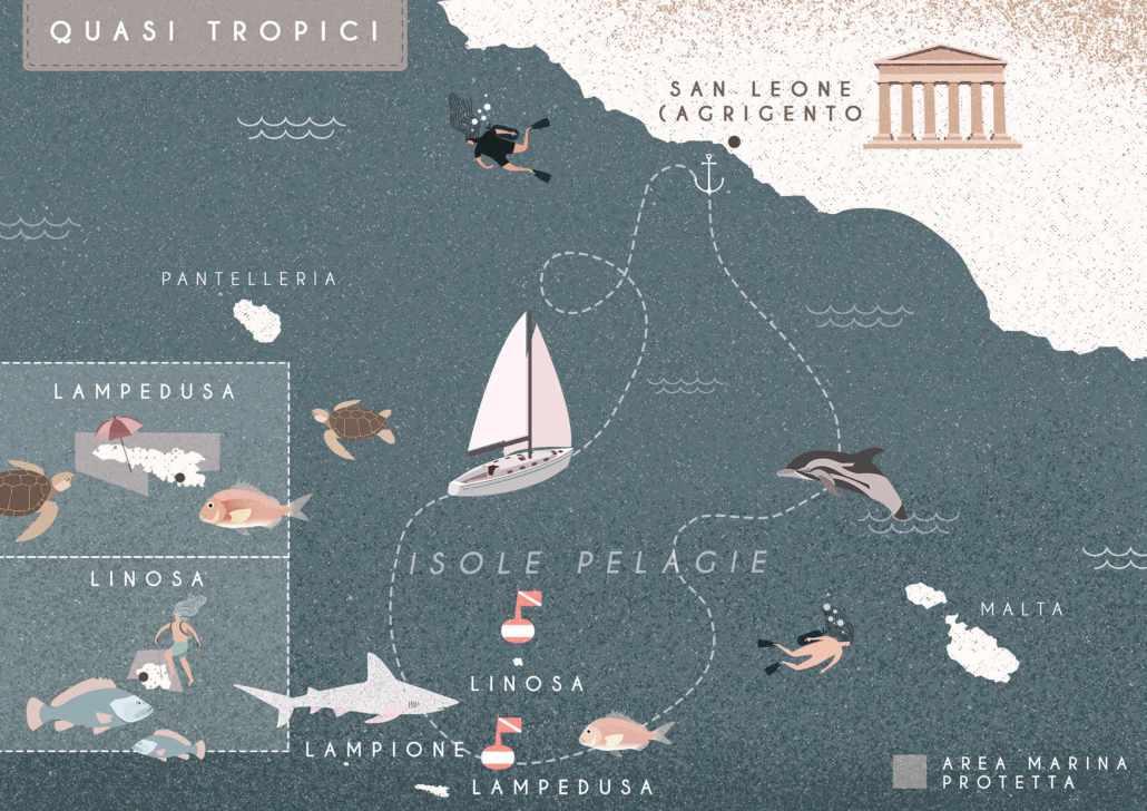 Quasi tropici, Sailing Bubbles itinerario © Il cielo in una sogliola