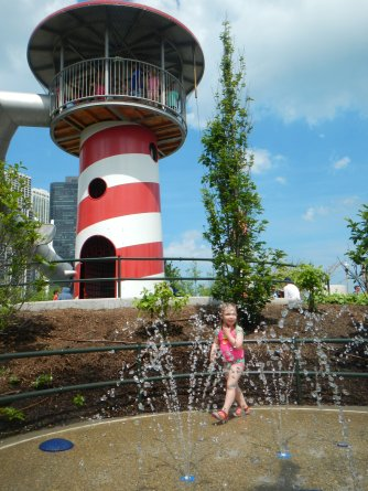 Maggie Daley Splash Pad and Lighthouse Slide