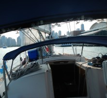 Sailing right up to Navy Pier