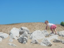 "It really doesn't take much to keep this kid entertained outdoors. She played in her ""sand nest"" for at least an hour."