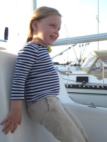 My little sailor girl. She's getting so old!