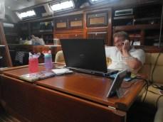 Aaron hard at work