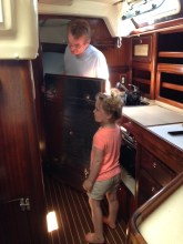 "Within 15 minutes on board, Claire said, ""Daddy, show me the engine!"""
