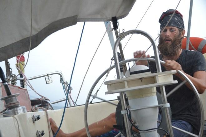 Der Captain steuern uns sicher durch den Squall