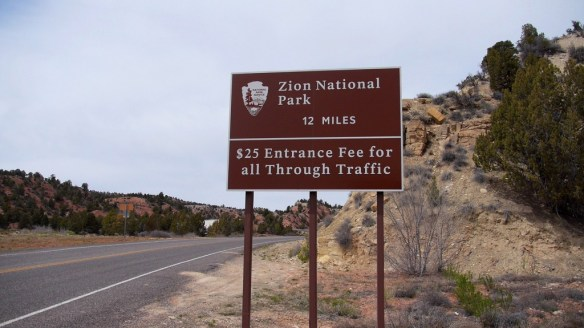 Der Eingang zum Zion National Park