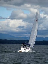 Da Capo (Catalina 310) sailing on Lake Champlain
