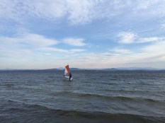 Thanksgiving Windsurfing on Lake Champlain