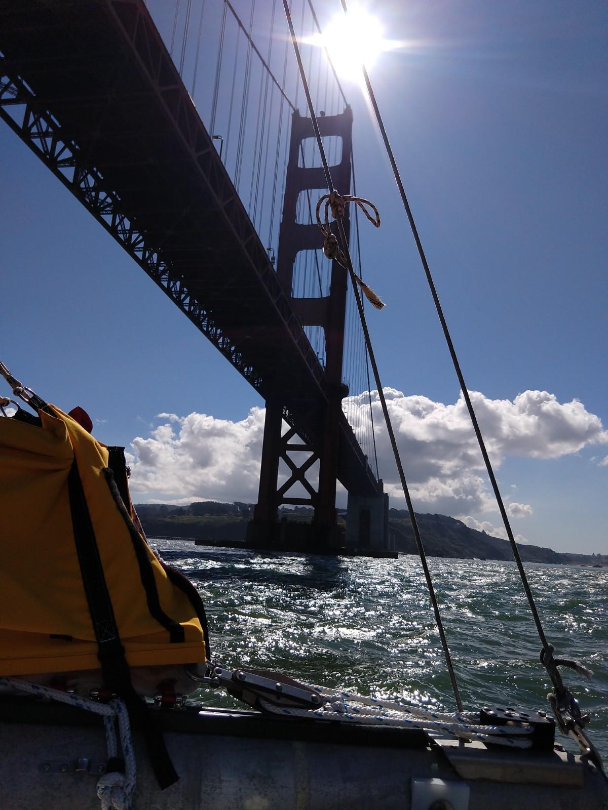 Golden Gate Bridge from the underside