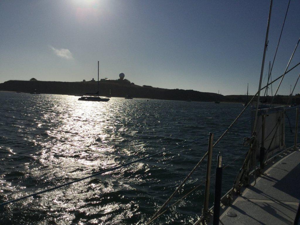 View of Pillar Point Harbor