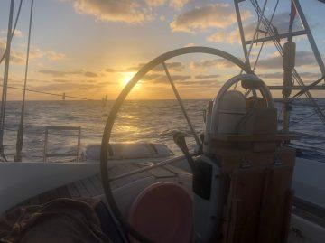 Zeilen rond de wereld atlantische oceaan Caribisch gebied barbados bridgetown varen zeilboot familie water zee anker