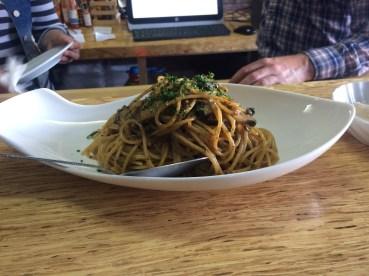 Abalone pasta at La Concheria. Incredibly delicious.