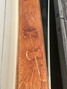 Varnish cracking on our cap rail