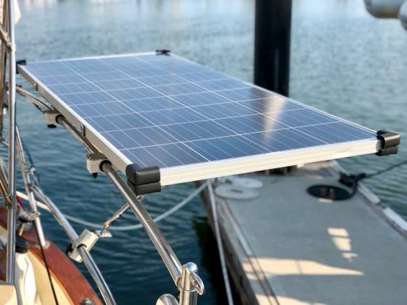 Mounted solar panel