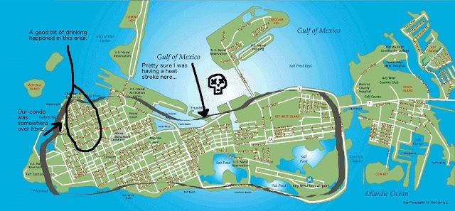 The Loop of Death bicycle around key west