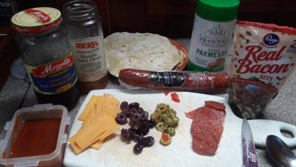 sailing luna sea pizza taco ingredients