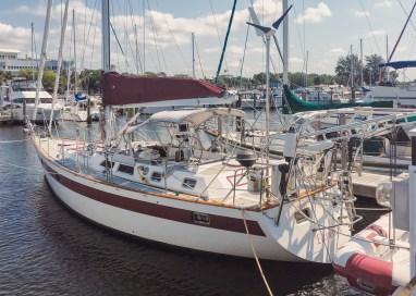 In her slip, before sea trials