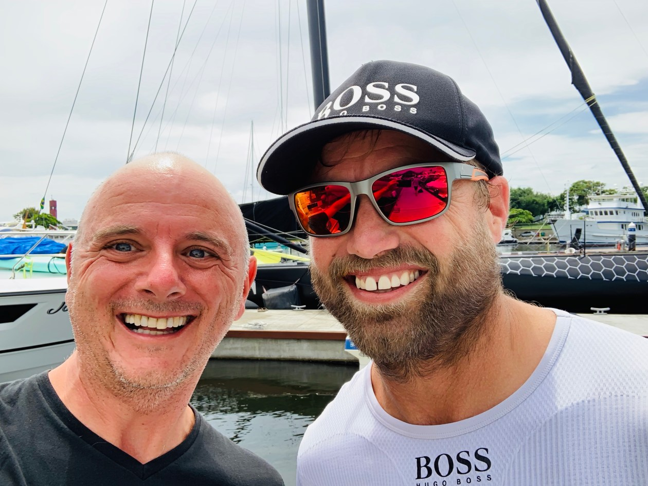 Selfie with Alex Thomson, Hugo Boss Open 60 skipper