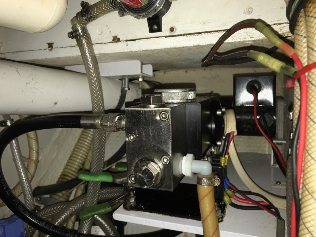 Picture of little wonder pressure pump installed under sink